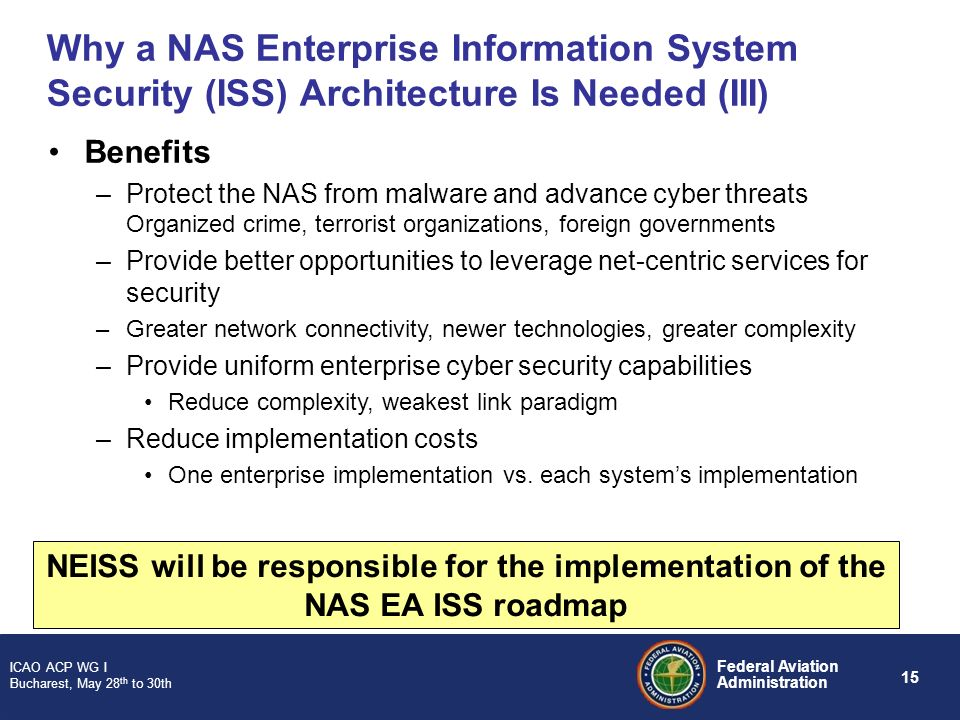 Why a NAS Enterprise Information System Security (ISS) Architecture Is Needed (III)