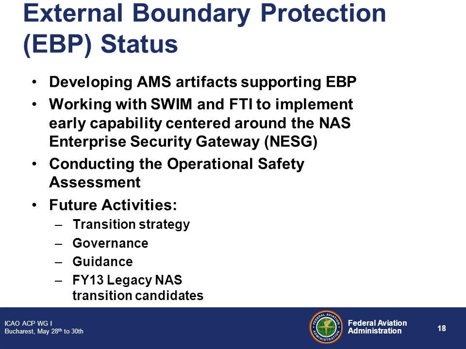 External Boundary Protection (EBP) Status