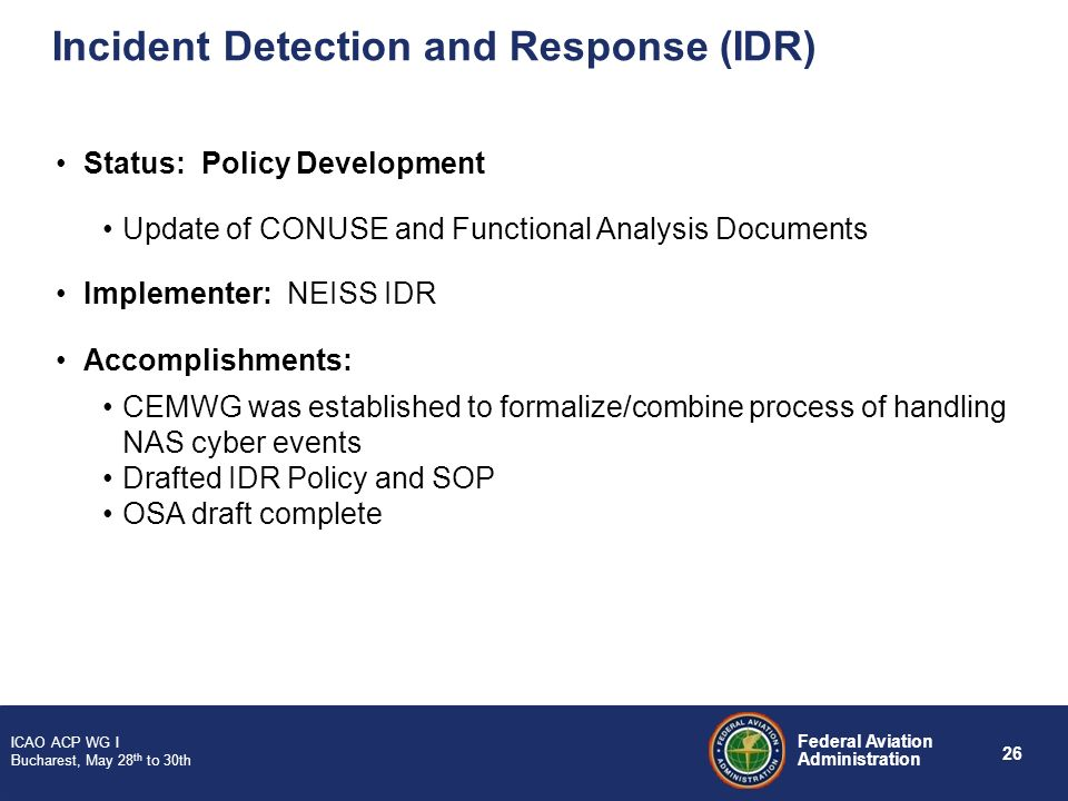 Incident Detection and Response (IDR)