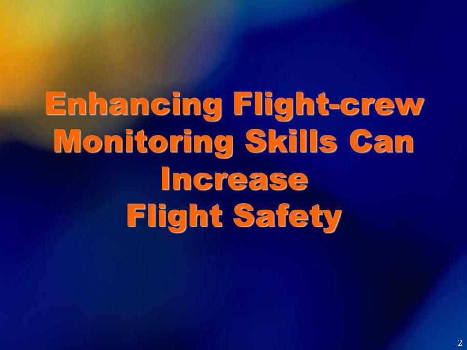Enhancing Flight-crew Monitoring Skills Can Increase Flight Safety