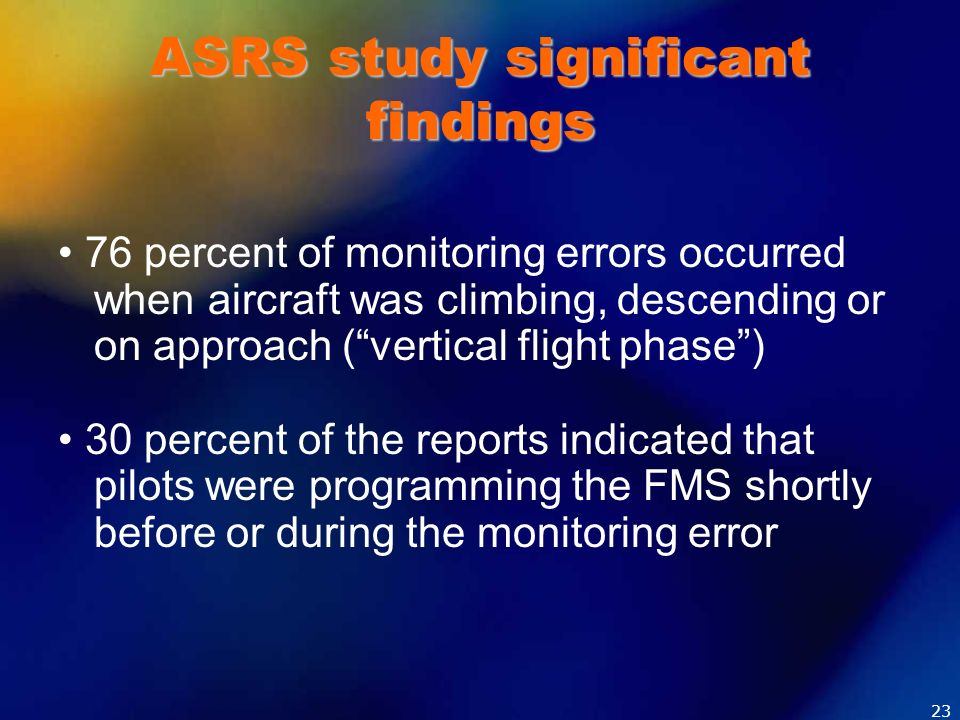 ASRS study significant findings