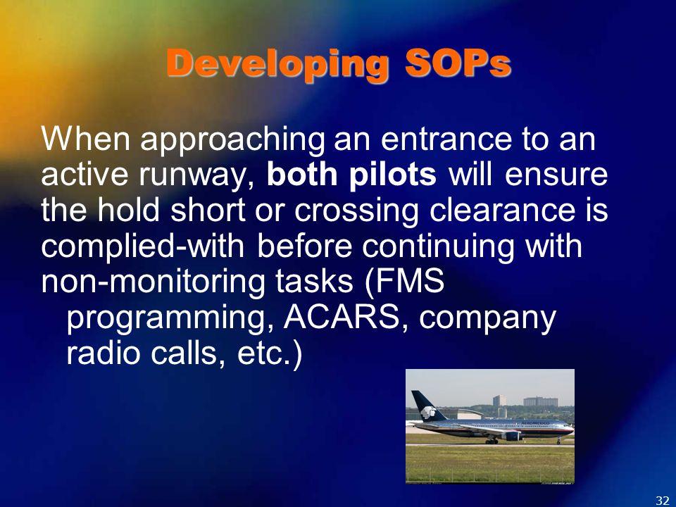 Developing SOPs