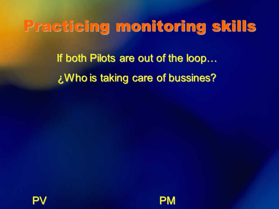 Practicing monitoring skills