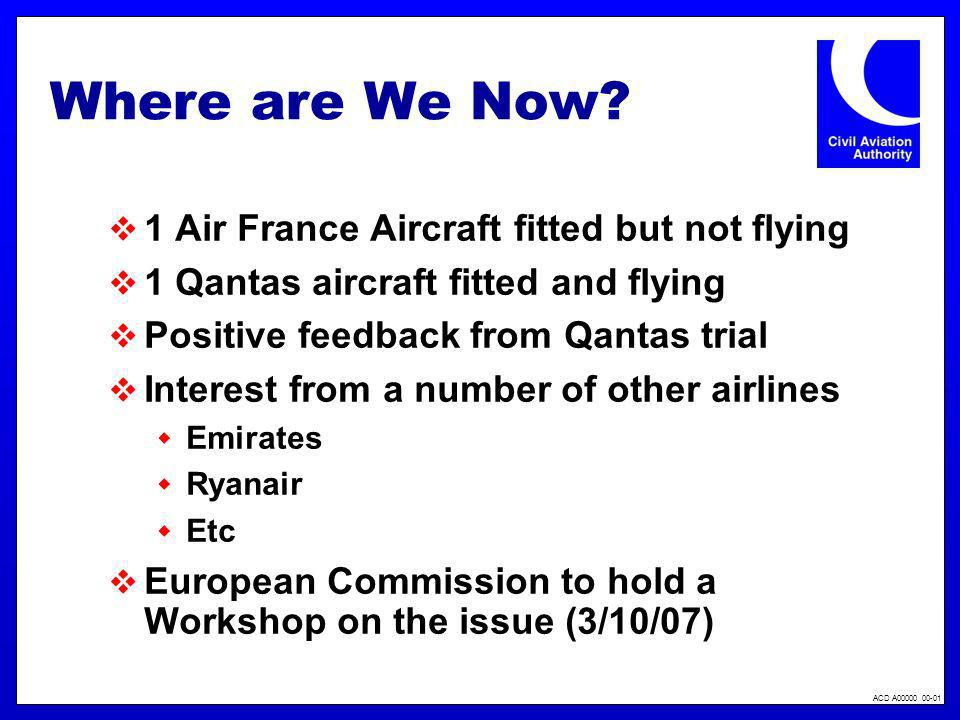 Where are We Now 1 Air France Aircraft fitted but not flying