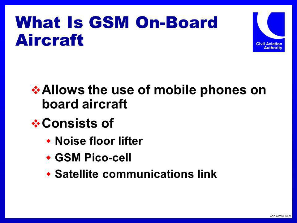 What Is GSM On-Board Aircraft