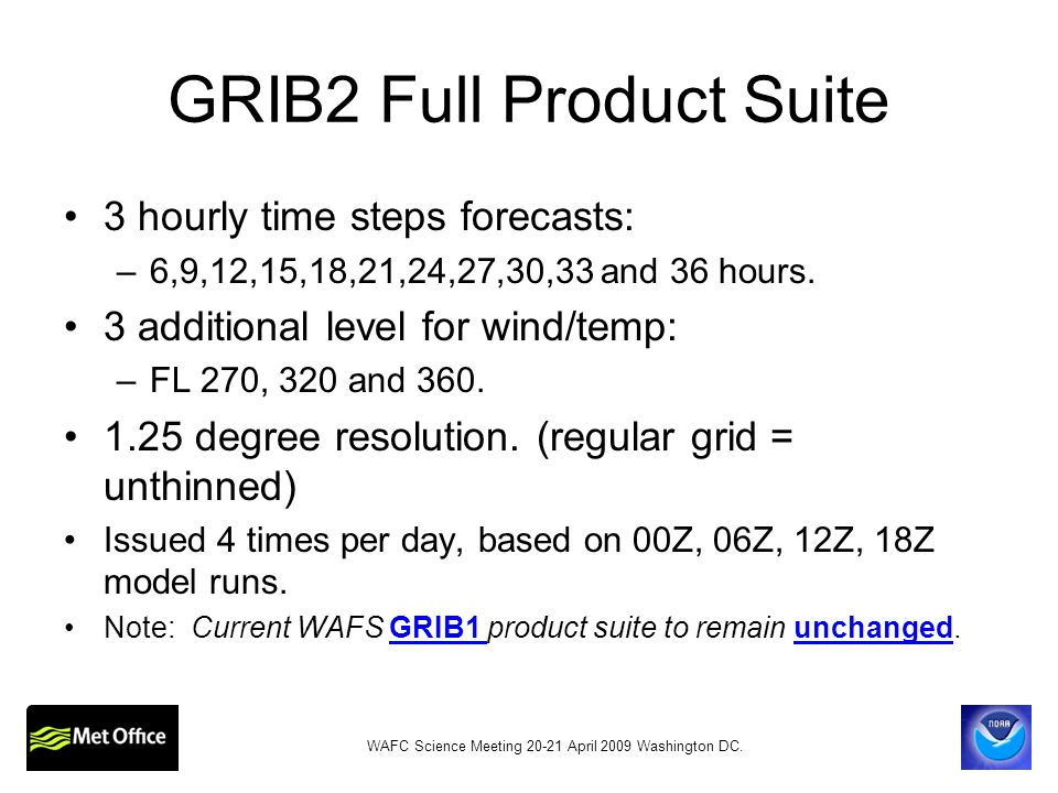 GRIB2 Full Product Suite