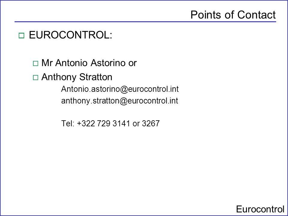 Points of Contact EUROCONTROL: Mr Antonio Astorino or Anthony Stratton