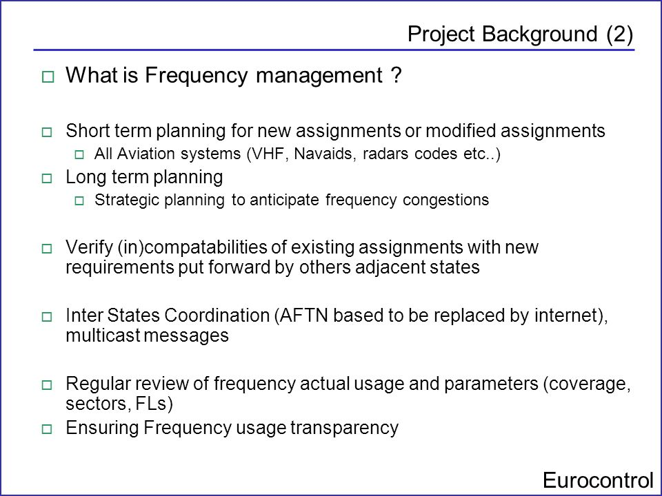 What is Frequency management