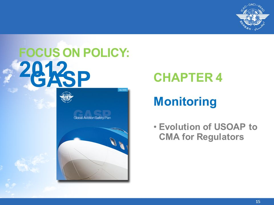 2012 GASP FOCUS ON POLICY: CHAPTER 4 Monitoring