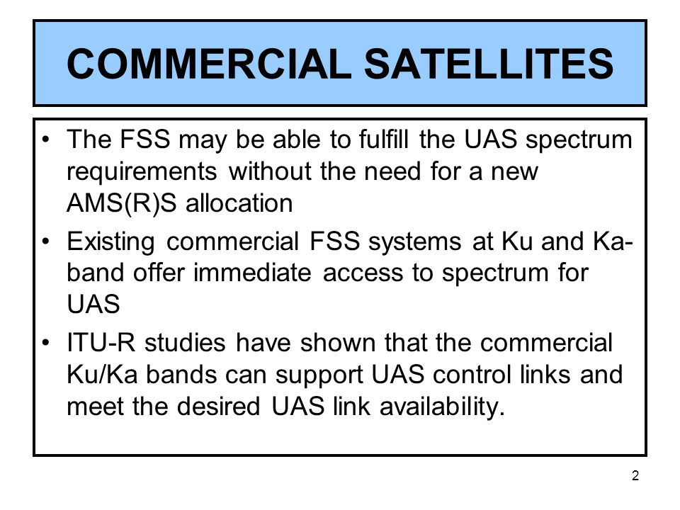 COMMERCIAL SATELLITES
