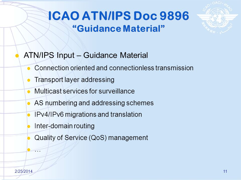 ICAO ATN/IPS Doc 9896 Guidance Material