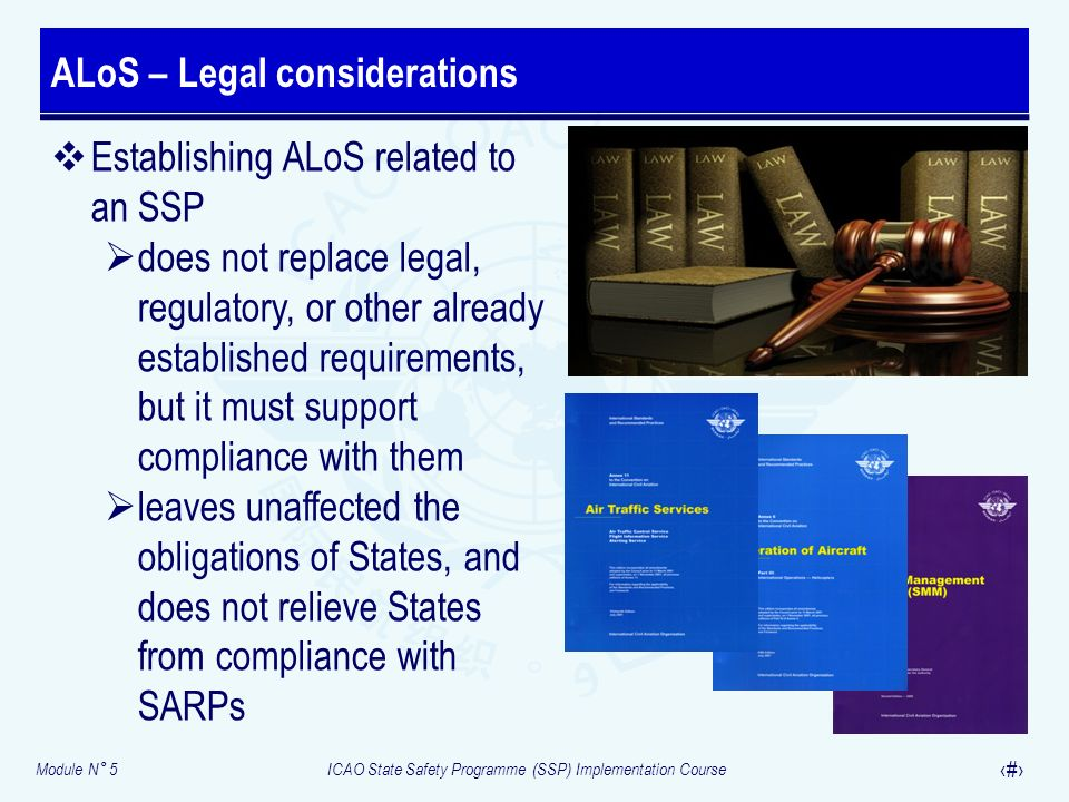 ALoS – Legal considerations