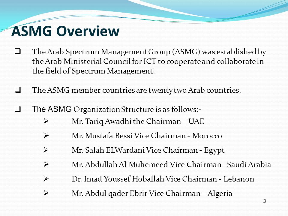 ASMG Overview
