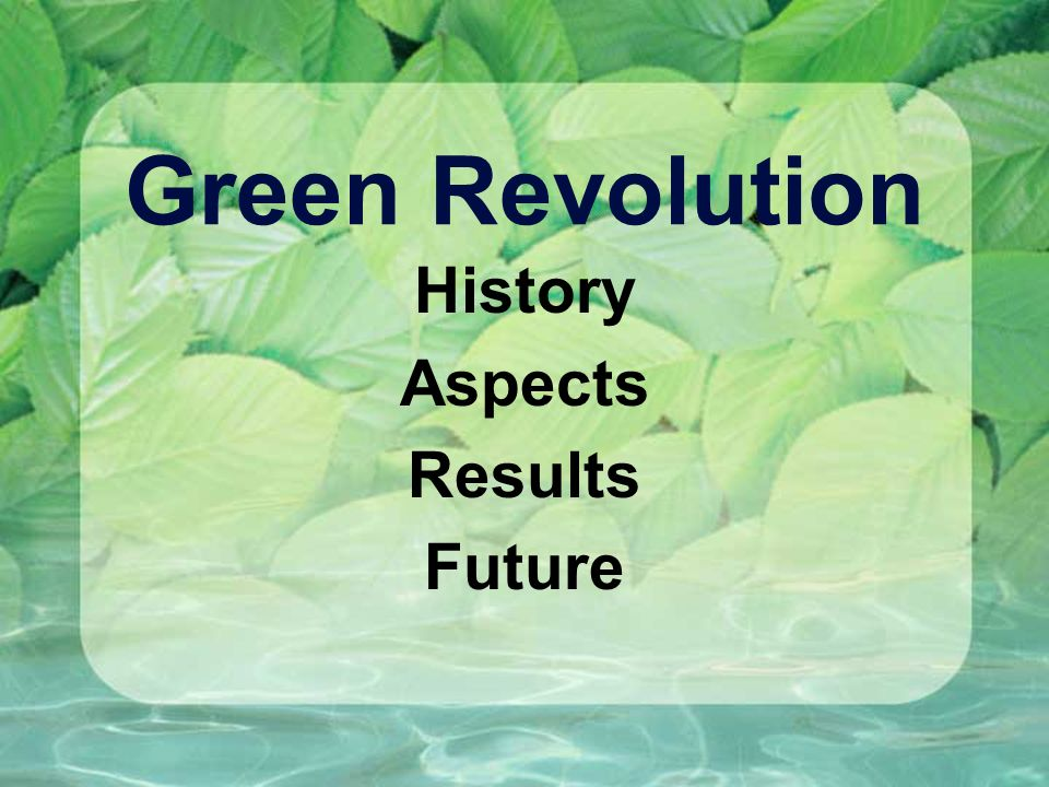 history of green revolution pdf