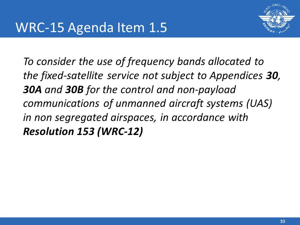 WRC-15 Agenda Item 1.5