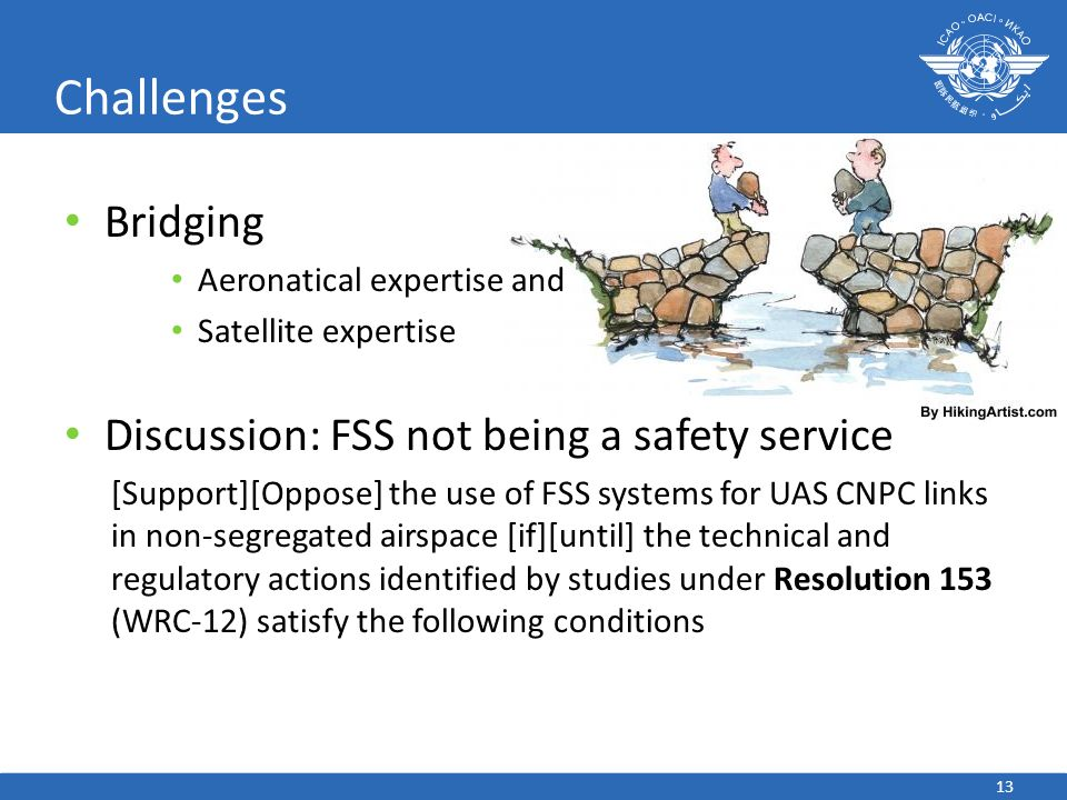 Challenges Bridging Discussion: FSS not being a safety service