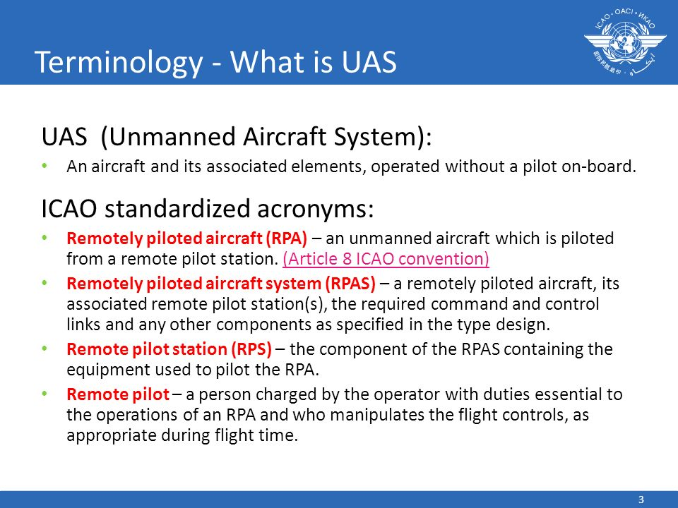 Terminology - What is UAS