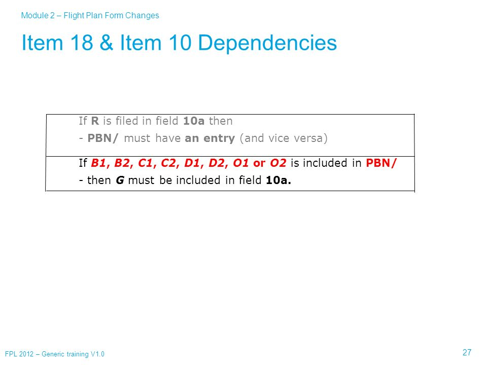 Item 18 & Item 10 Dependencies