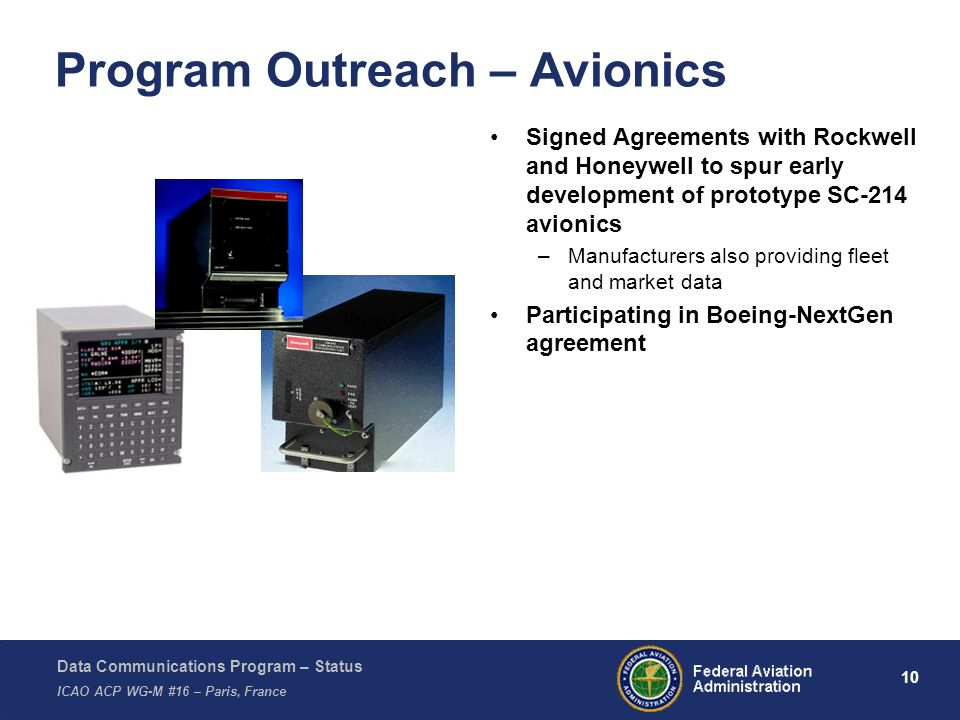 Program Outreach – Avionics