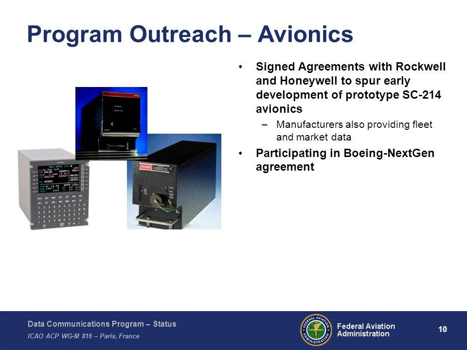 Program Outreach – Avionics