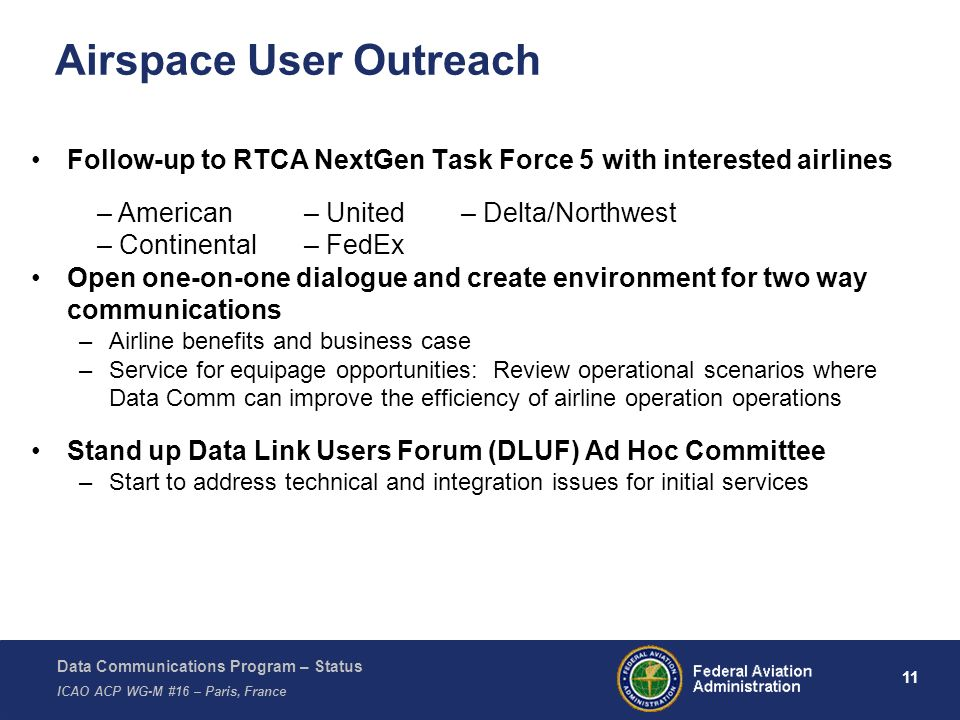 Airspace User Outreach