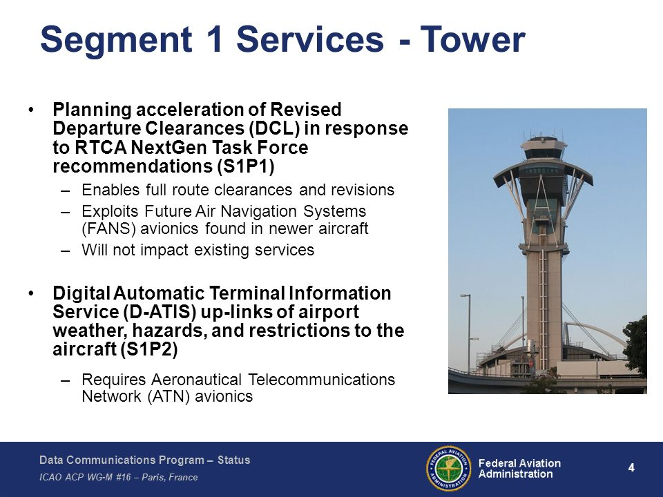 Segment 1 Services - Tower