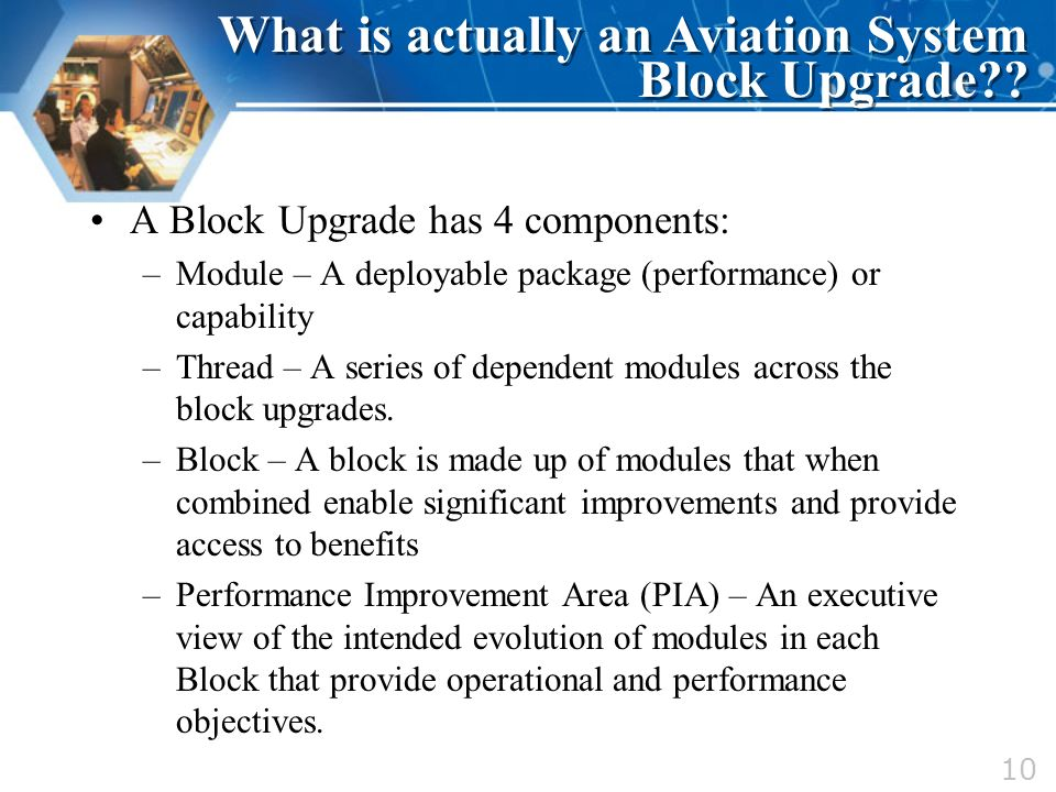 What is actually an Aviation System Block Upgrade