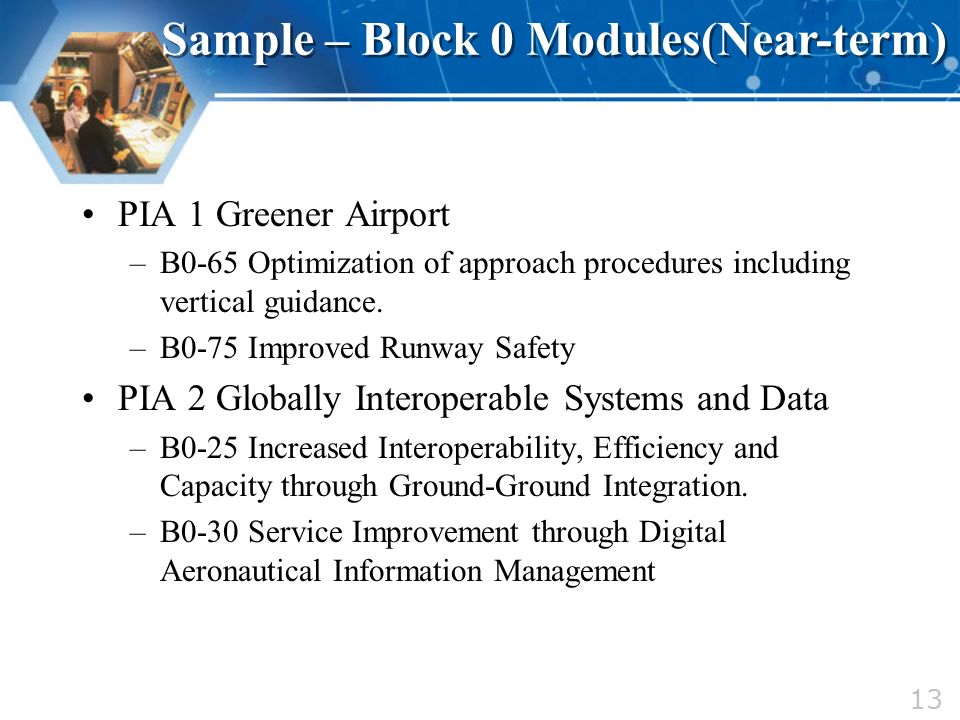 Sample – Block 0 Modules(Near-term)