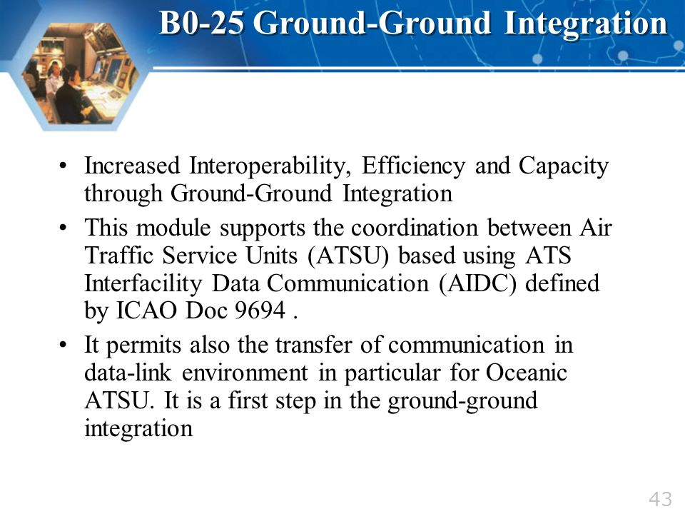 B0-25 Ground-Ground Integration