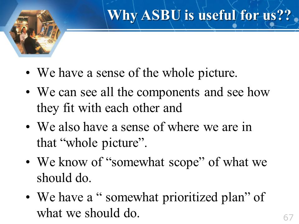 Why ASBU is useful for us