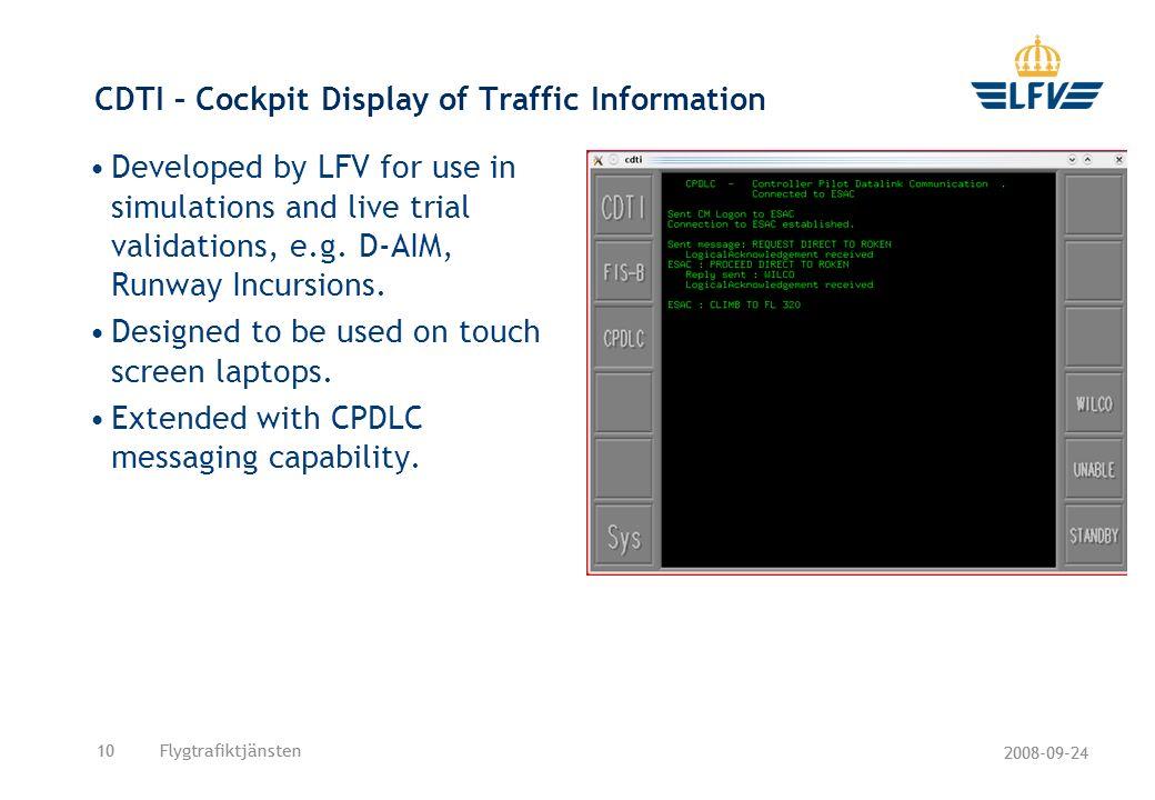 CDTI – Cockpit Display of Traffic Information