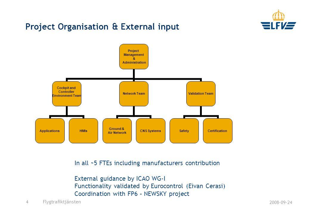 Project Organisation & External input