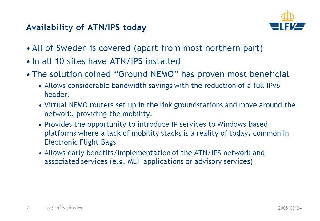 Availability of ATN/IPS today