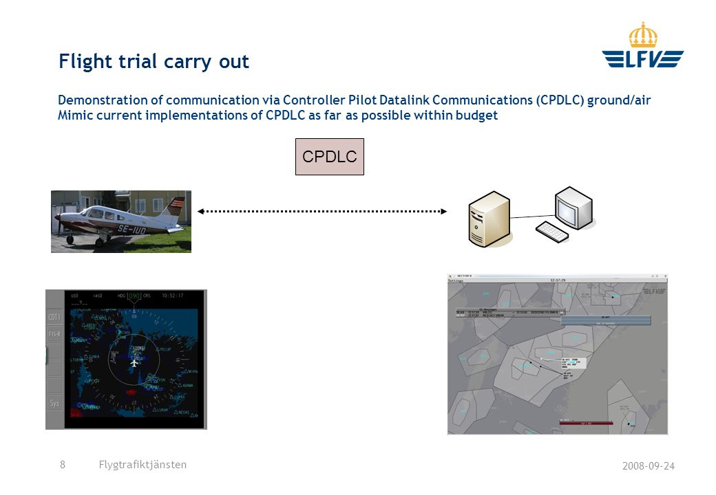 Flight trial carry out CPDLC