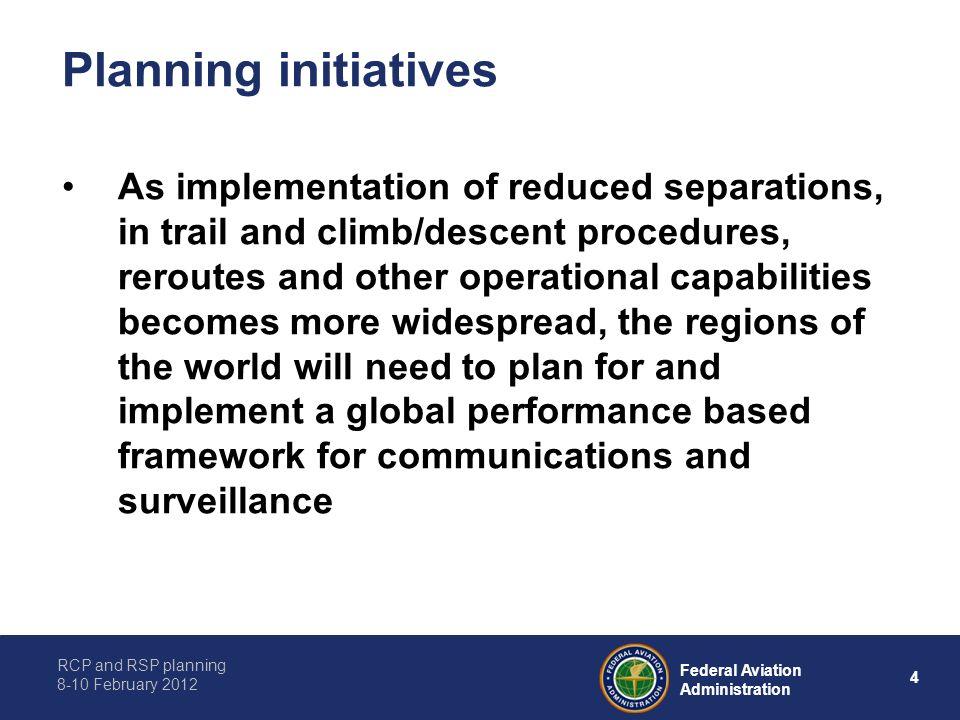 Planning initiatives