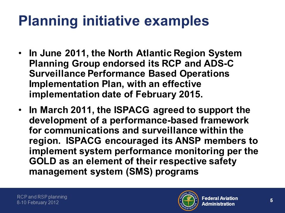 Planning initiative examples