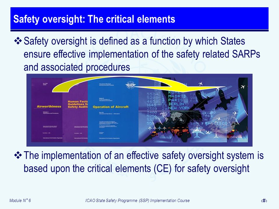 Safety oversight: The critical elements