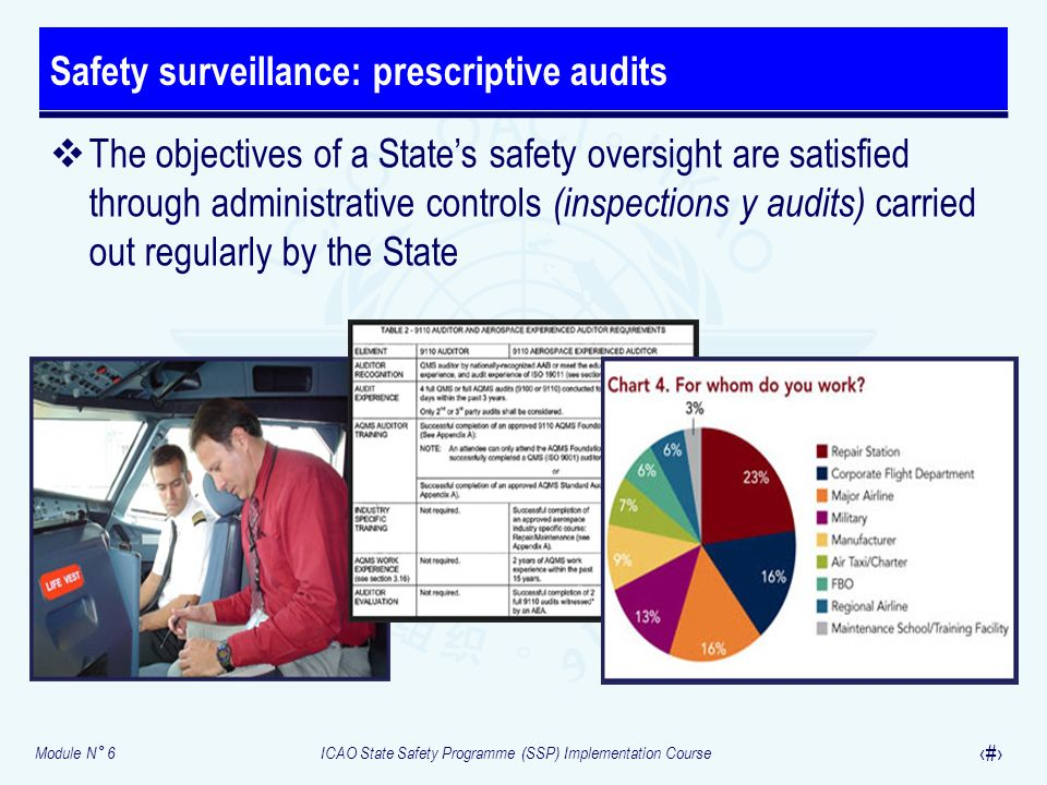 Safety surveillance: prescriptive audits