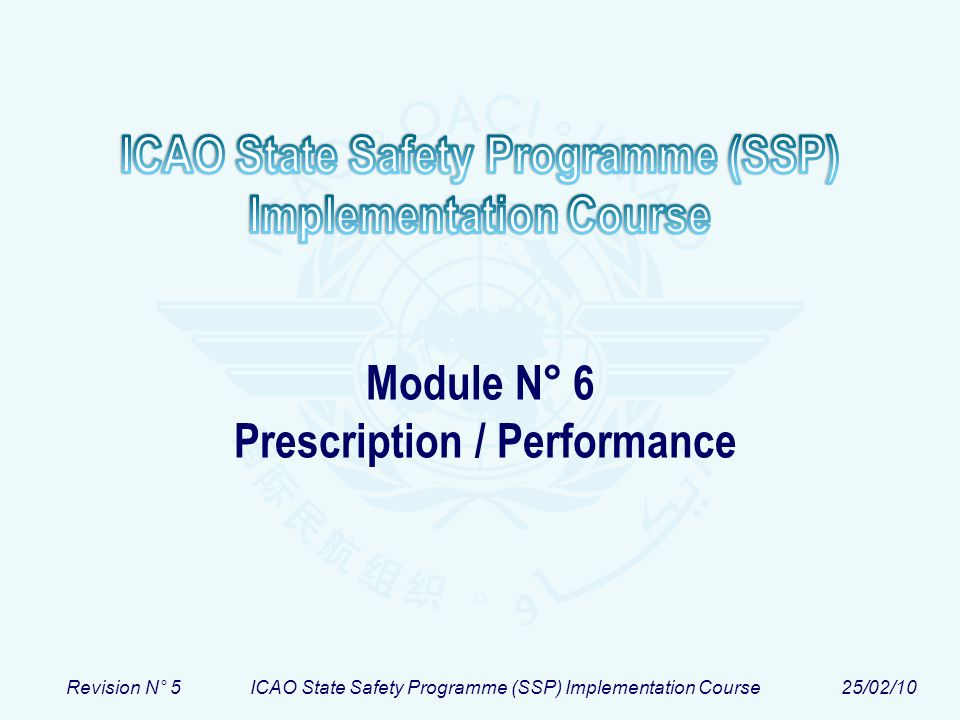 Module N° 6 Prescription / Performance
