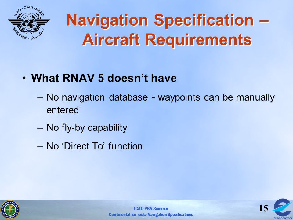 Navigation Specification –Aircraft Requirements