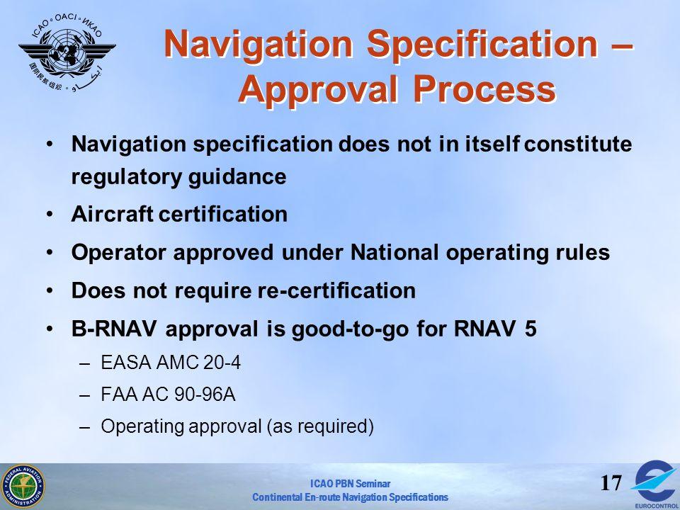 Navigation Specification – Approval Process