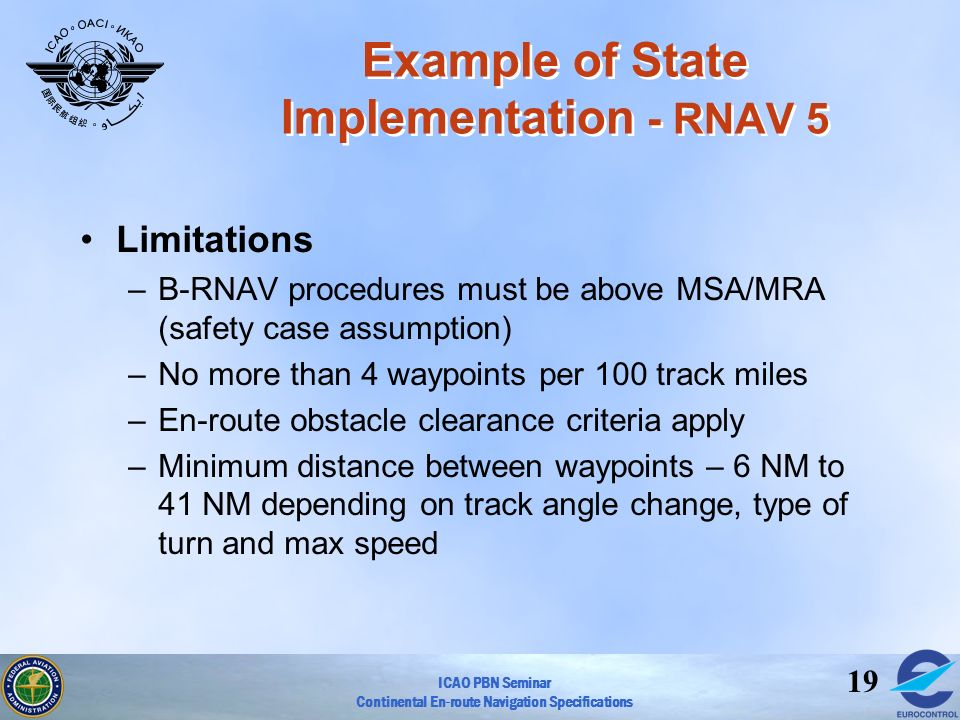 Example of State Implementation - RNAV 5
