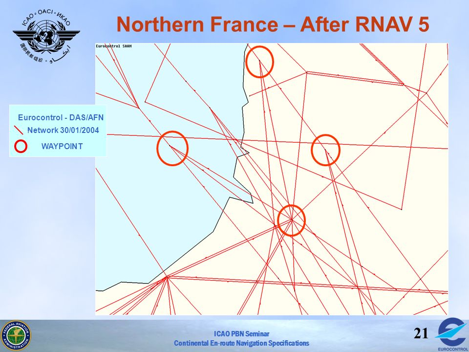 Northern France – After RNAV 5