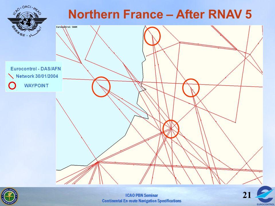 Northern France – After RNAV 5
