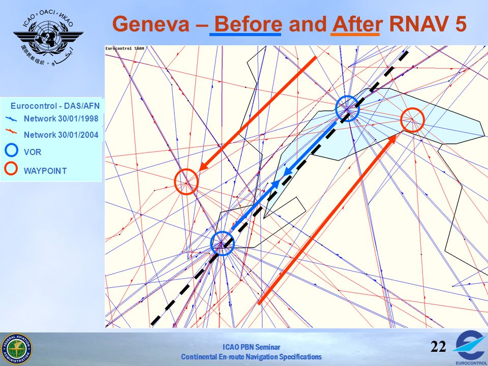 Geneva – Before and After RNAV 5