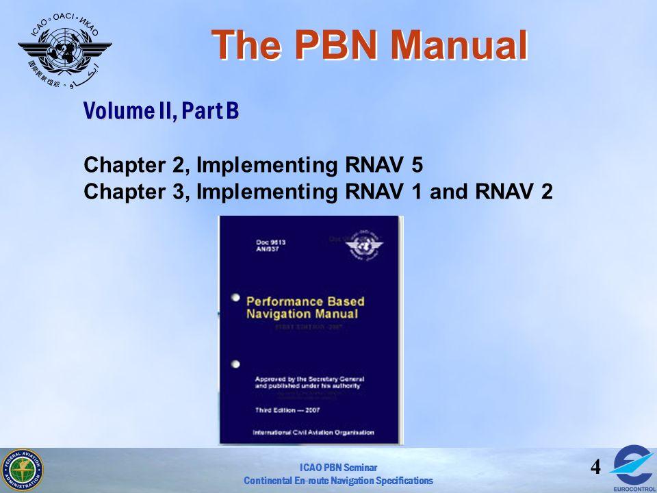 The PBN Manual Volume II, Part B Chapter 2, Implementing RNAV 5