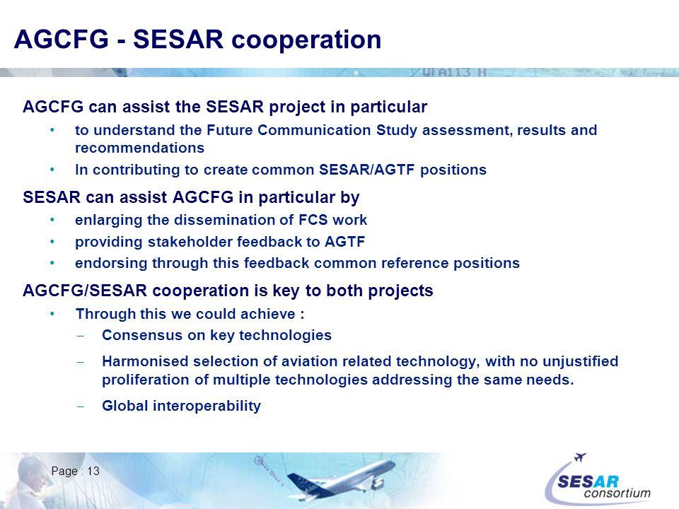 AGCFG - SESAR cooperation