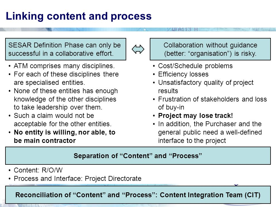 Linking content and process