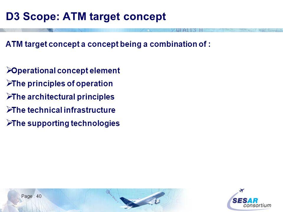 D3 Scope: ATM target concept