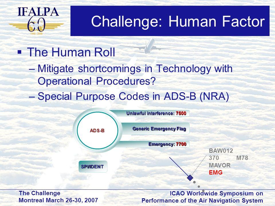 Challenge: Human Factor